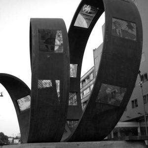Monumento al cine – Ponferrada bw1