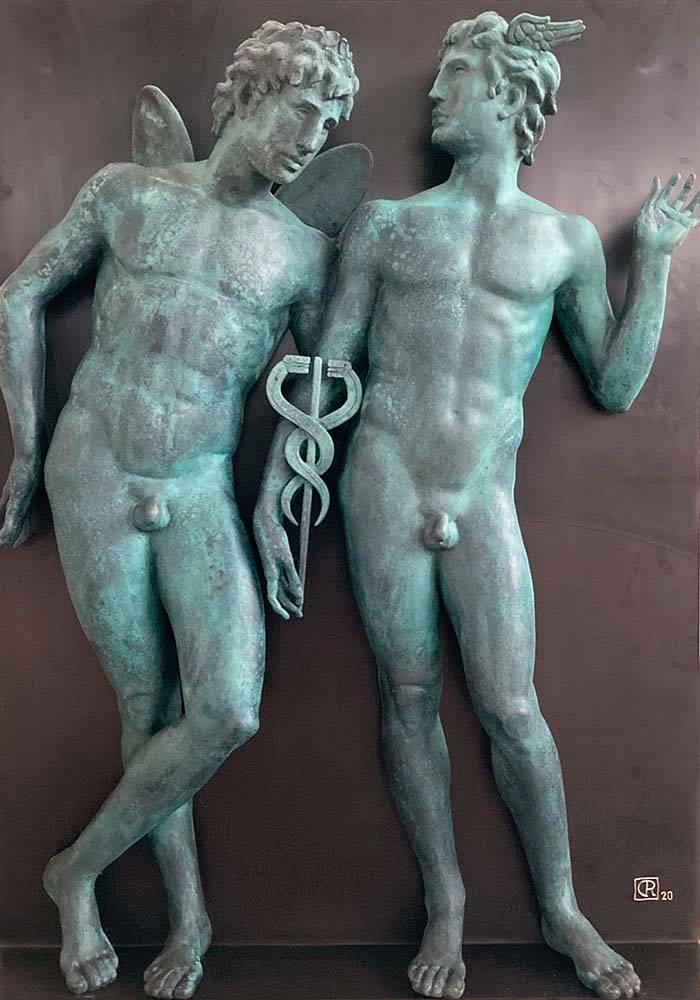 Castor și Polux, Radu Ciobanu 2020 (bronz)